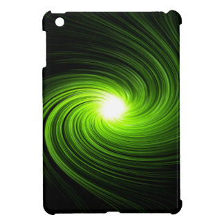 Green swirl abstract. iPad mini cases