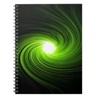 Green swirl abstract. notebook