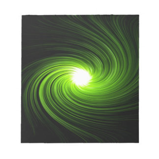Green swirl abstract. notepad
