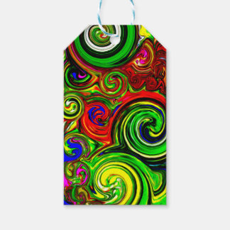 Green Swirl Abstract Print Gift Tags