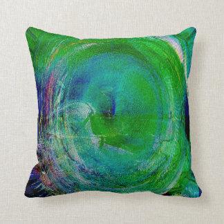 Green Swirl Agate Throw Pillow