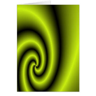 Green swirl background card