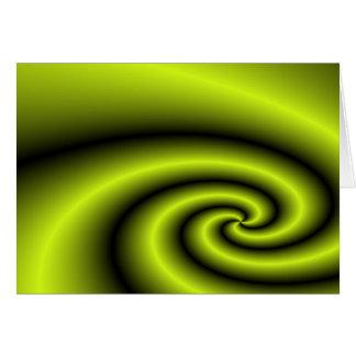 Green swirl background greeting card