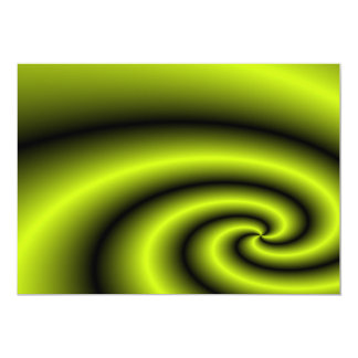 Green swirl background personalized announcements