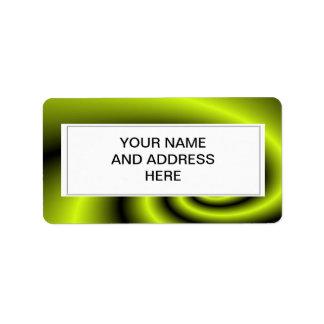 Green swirl background personalized address label
