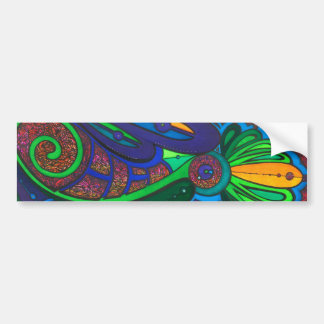 Green Swirl Bumper Sticker