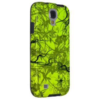 green swirl flovers vector art