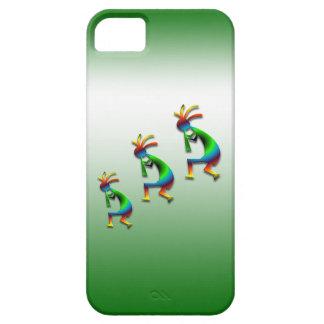 Green Swirl Kokopelli iPhone 5 Cases