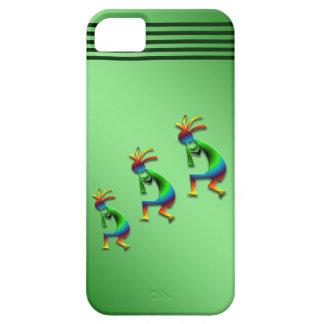 Green Swirl Kokopelli on Green Case For The iPhone 5