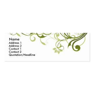 Green Swirl Mini Business Card