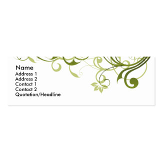 Green Swirl Pack Of Skinny Business Cards