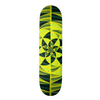 Green swirl skate deck