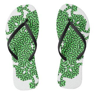 Green Swirl Tech Flip Flops