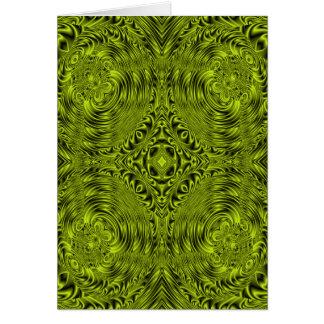 Green swirl warp background cards
