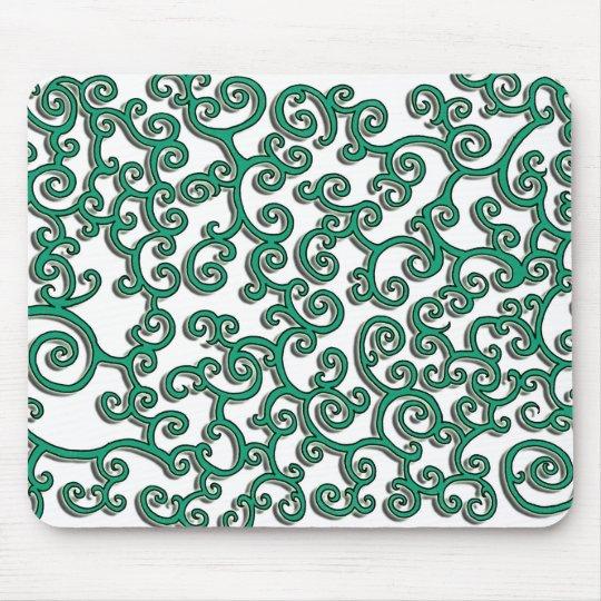 Green swirlie mousepad