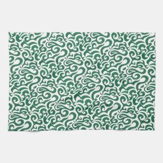 Green Swirls (1) Kitchen Towel