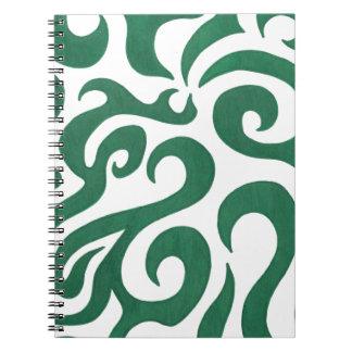 Green Swirls (1) Spiral Notebook
