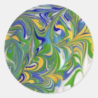 Green Swirls Sticker