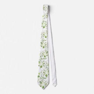 Green Swirls Tie