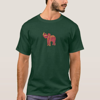 Green T w/ Red Elephant T-Shirt
