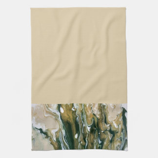 Green & Tan Abstract Kitchen Towel