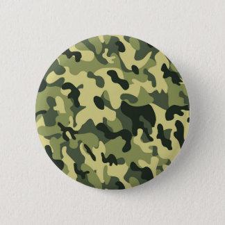Green Tan Black Camouflage Pattern Background 2 Inch Round Button