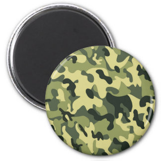Green Tan Black Camouflage Pattern Background 2 Inch Round Magnet