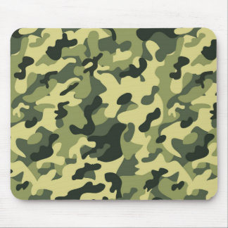 Green Tan Black Camouflage Pattern Background Mouse Pad