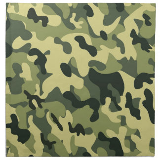Green Tan Black Camouflage Pattern Background Napkin