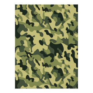 Green Tan Black Camouflage Pattern Background Poster