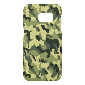 Green Tan Black Camouflage Pattern Background Samsung Galaxy S7 Case