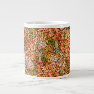 GREEN TANGERINE ABSTRACT MUG