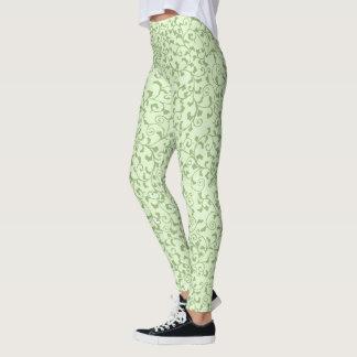 Green Tangled Vines Leggings