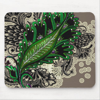 Green Tapestry Mouse Pad