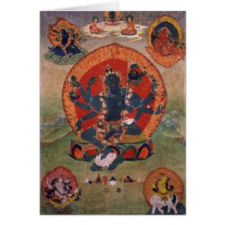 Green Tara Buddhist Deity Card