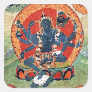 Green Tara Goddess Square Sticker