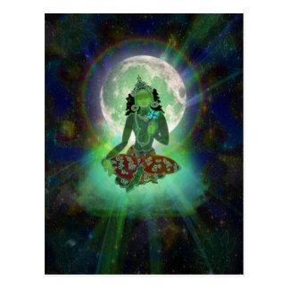 'Green Tara' postcard