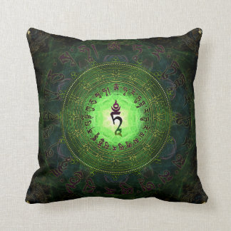 Green Tara - Protection from dangers and suffering Throw Pillow