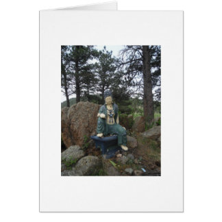 Green Tara Statue Card