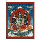 Green Tara Tibetan Goddess of Compassion Postcard