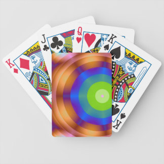Green Target Playing Cards