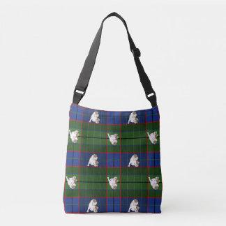 Green Tartan Bulldog Crossbody Bag