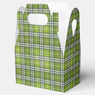 Green Tartan Favor Box