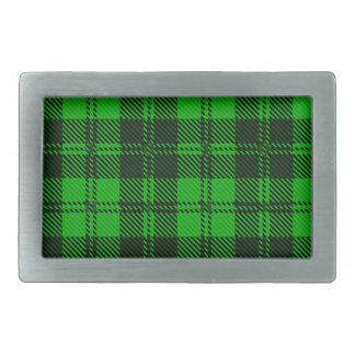 Green Tartan Wool Material Belt Buckle