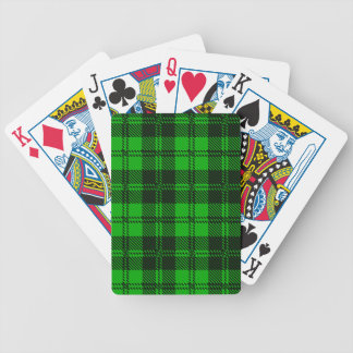 Green Tartan Wool Material Bicycle Playing Cards
