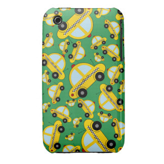Green taxi pattern Case-Mate iPhone 3 case