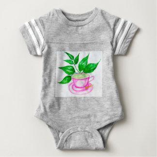 Green Tea Art2 Baby Bodysuit