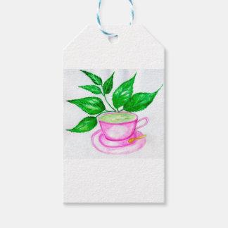 Green Tea Art2 Gift Tags