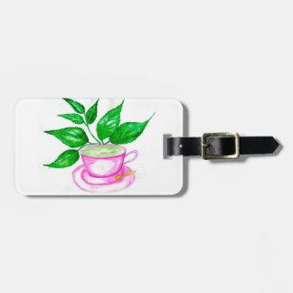 Green Tea Art2 Luggage Tag