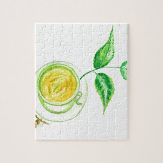 Green Tea Art Jigsaw Puzzle